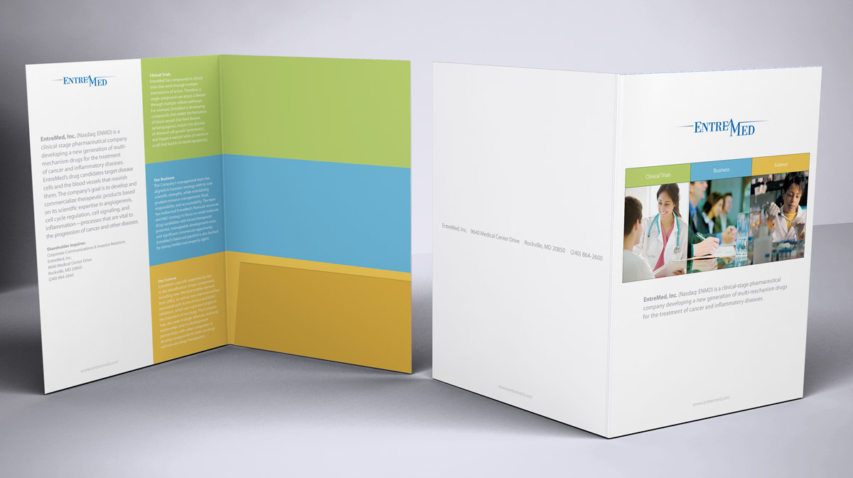 marketing hybrid brochure folder design positive